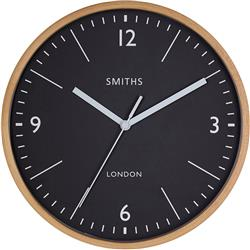 SMITHS WOODEN WALL CLOCK - 25 CM