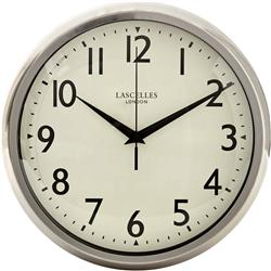 Retro Chrome Wall Clock With Sweep Seconds Hand - 30cm