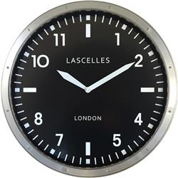 Large Brushed Chrome Wall Clock - 45cm