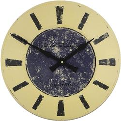 Large Enamel Blue Clock - 36cm