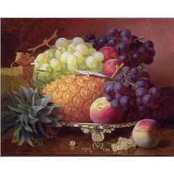 Still Life with Pineapple and Grapes