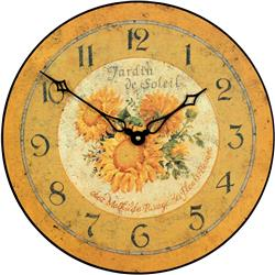 French Sunflower Wall Clock - 36cm