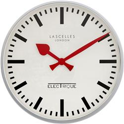 A Chrome Retro Wall Clock - 45cm