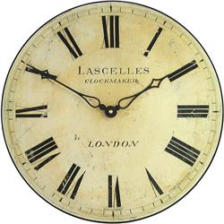 Antique Style Lascelles Wall Clock - 36cm