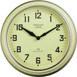RADIO CONTROLLED RETRO CREAM WALL CLOCK - 30 CM