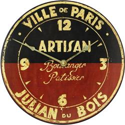 Artisan French Boulanger Wall Clock - 36 cm