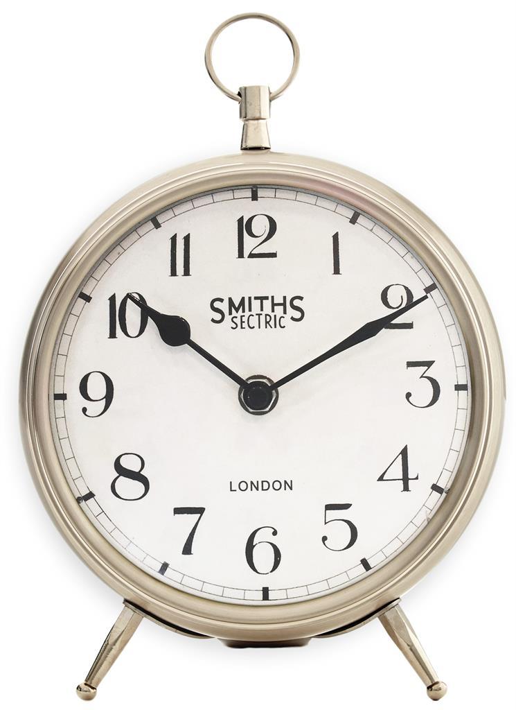 Smiths Mantel Chrome Clock Large 25cm